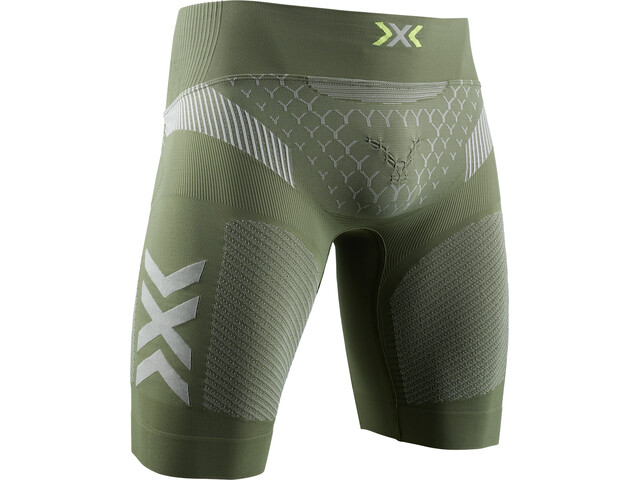 X-Bionic Twyce G2 Løbeshorts Herrer, olive green/dolomite grey